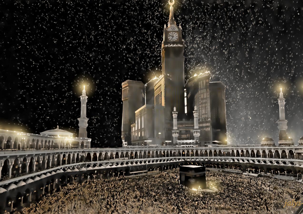 خلفية ساعة مكة والحرم المكي الشريف 2017