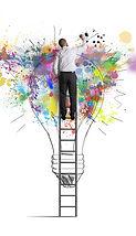 Concept of a big creative business idea.