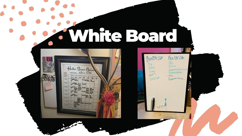 Using a whiteboard to track all your projects and assignments (for the kids too!)