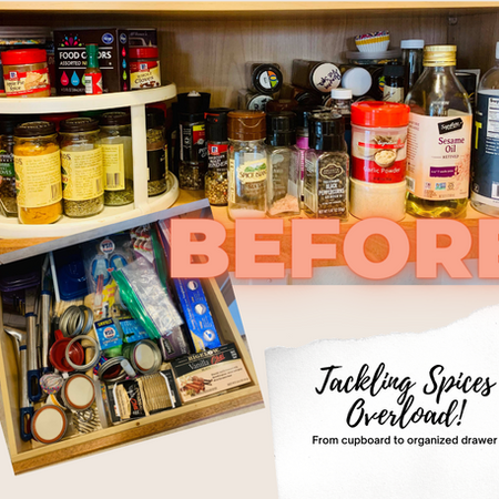 And it came tumbling down - time to declutter the spices