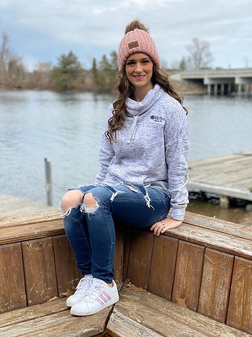 Fleece Cowl Neck Sweatshirt