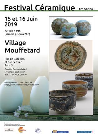 Marché de céramique à Mouffetard