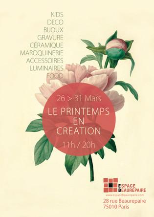 LE PRINTEMPS EN CRÉATION Espace Beaurepaire, Paris 10e
