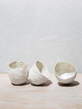 Bols irréguliers porcelaine.