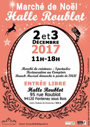 EXPO-VENTE. Marché de Noël - Halle Roublot - Fontenay-sous-Bois (94).