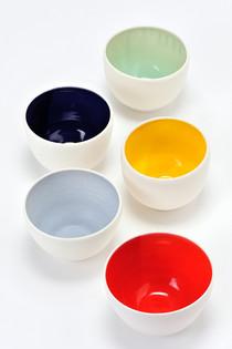 Bols porcelaine couleurs pétillantes