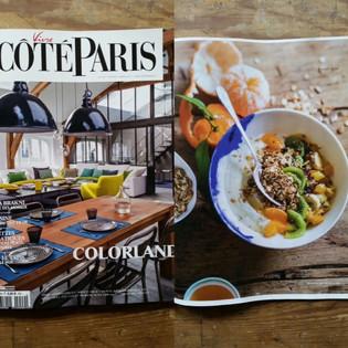"""Mon bol """"Les Nébuleuses """" dans le """"Coté Paris """"de Mars 2017."""