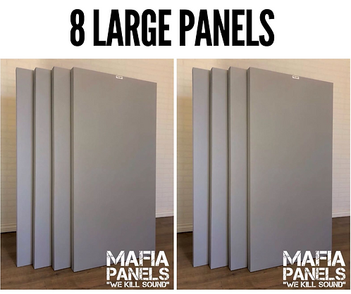 8x Large Acoustic Mafia Panels - 50mm