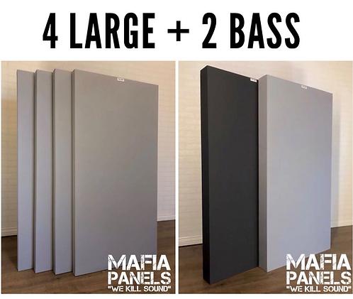 4x Large Panels 50mm + 2x Acoustic Bass Traps- 100mm