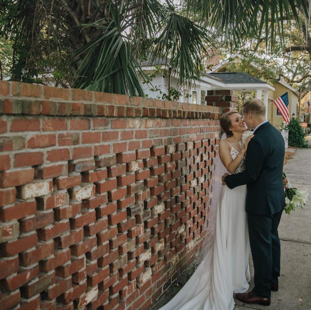 Lightbloom Photography Blue Satin Bee Southport, NC Wedding
