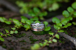 Wedding Rings together for NC Wedding in Winston Salem Photo by Brittany Butterworth