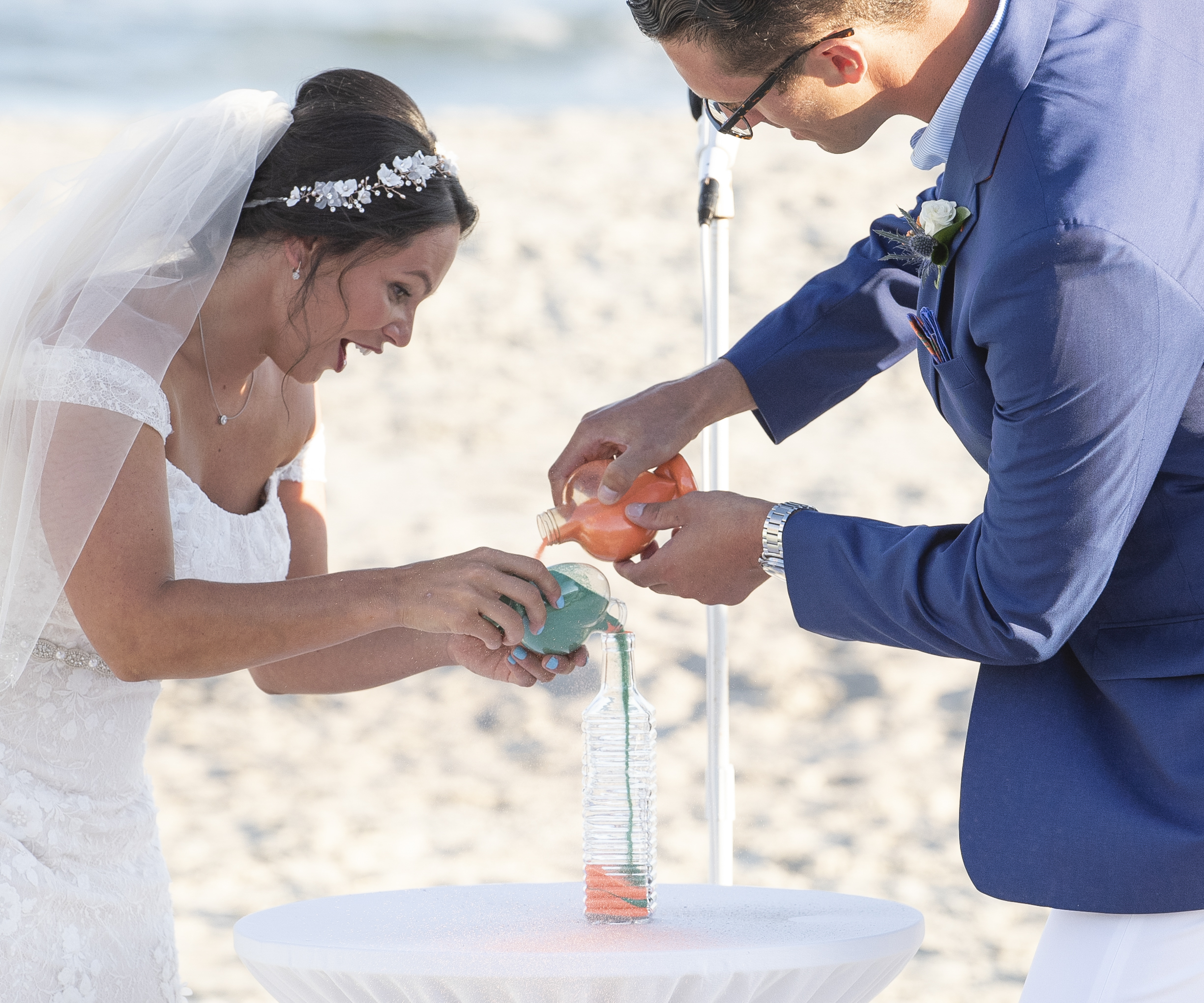 Frank Hart Photography captures a bride and groom sand ceremony