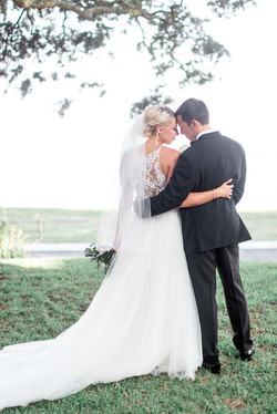 Digital Wunderland and Southport, NC wedding couple by the river