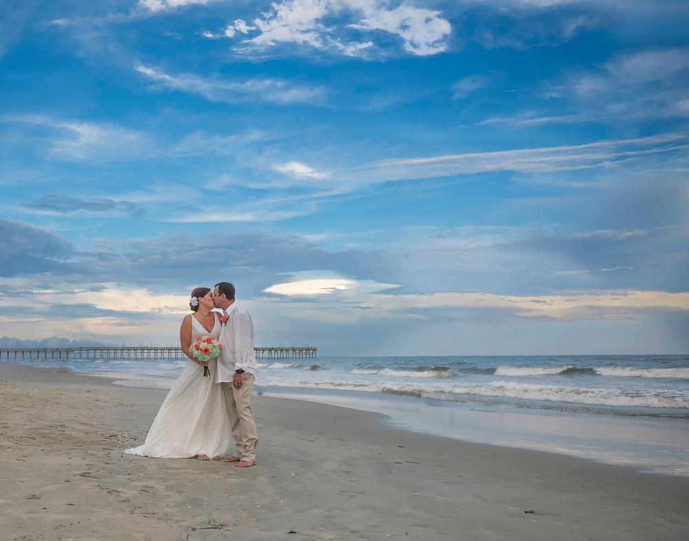 Ocean Isle Wedding Frank Hart Photography Blue Satin Bee