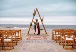 Hen House Photo captures a styled Bohemian beach wedding at Oak Island, NC.