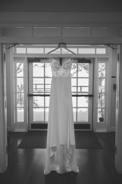 Lightbloom Photography Southport Community Building wedding with bride's dress