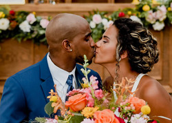 Bride and Groom kissing at Southport, NC Elopement Photo by Hen House Photo