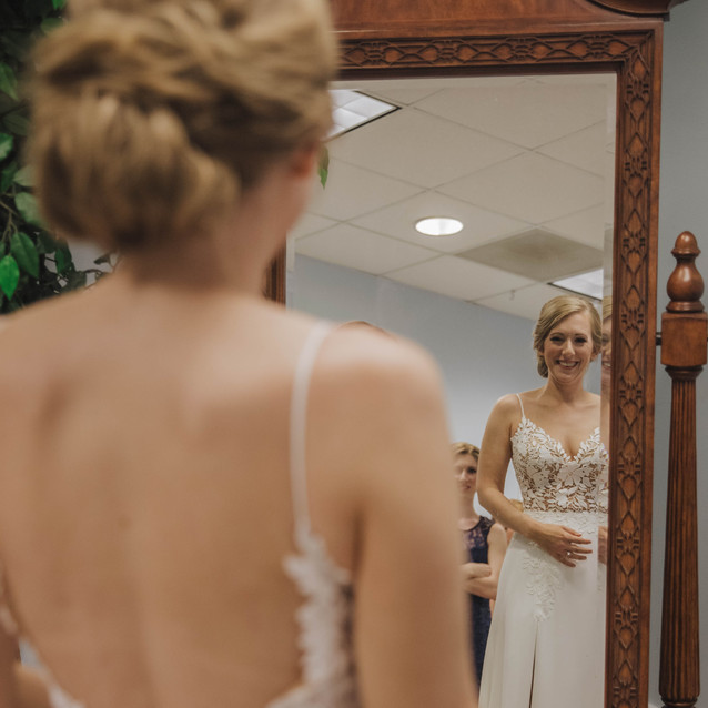 Dress Lightbloom Photography Blue Satin Bee Coastal NC Wedding