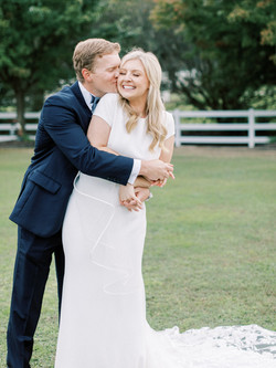 Heather Webster Photographs couple after their NC wedding in Garner, NC