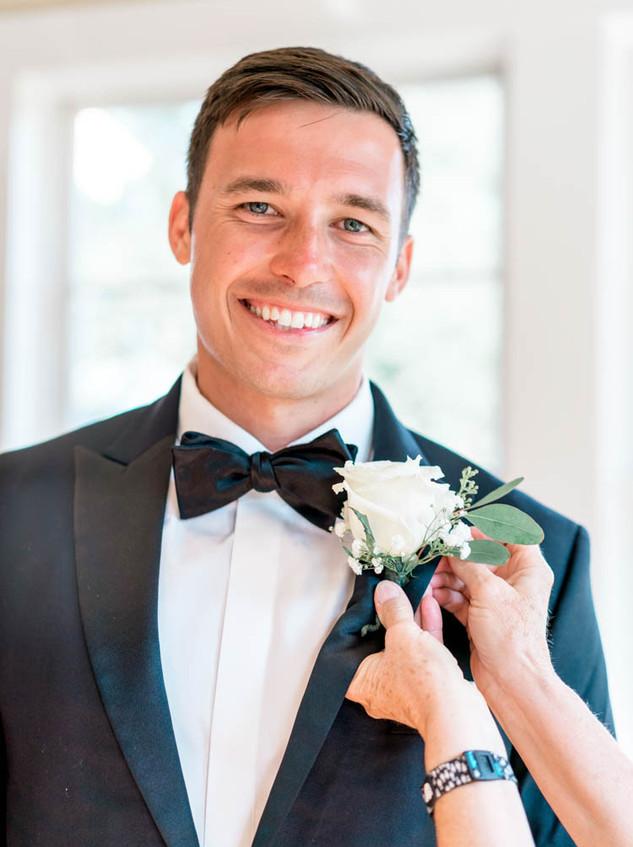 Southport Wedding Groom Digital Wunderland Blue Satin Bee