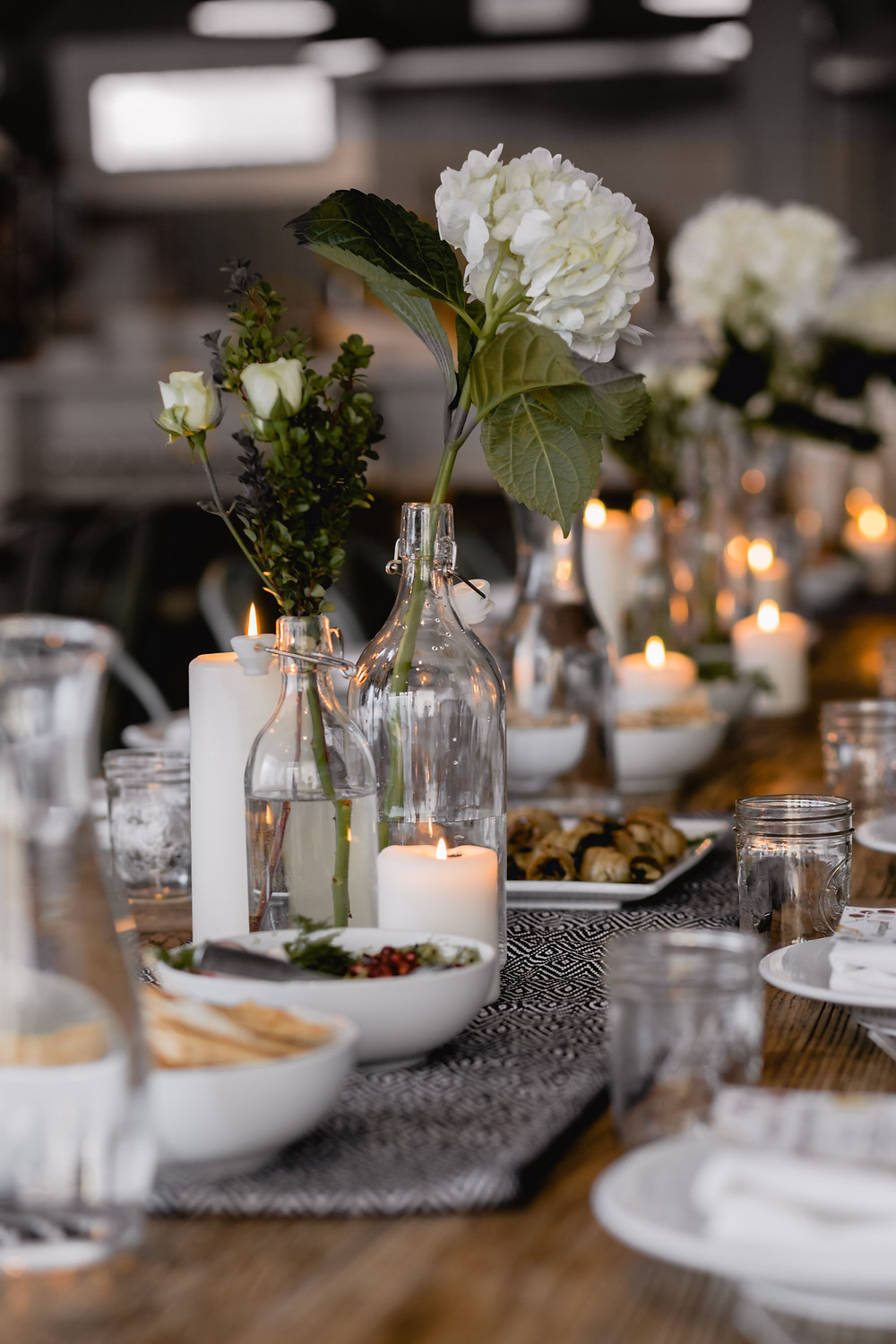 Rehearsal party tablescape Southport, NC wedding