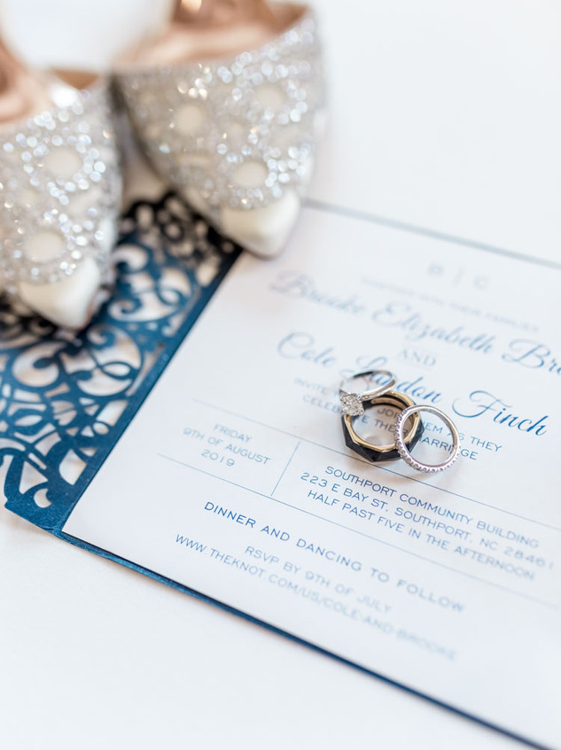 Southport Wedding Invitation Digital Wunderland Blue Satin Bee