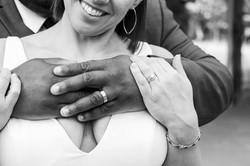 Brittany Butterworth photos Wedding Couple Rings Broostown Inn Wedding Winston Salem
