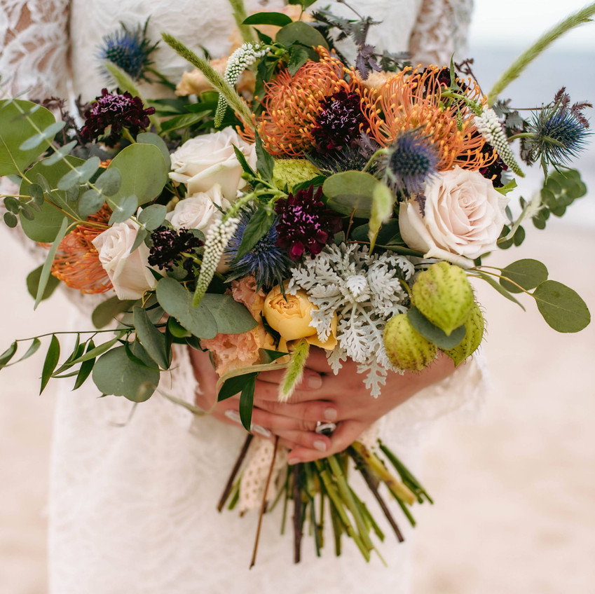 Hen House Photography Bridal bouquet Wild by Nature Southport, NC weddings