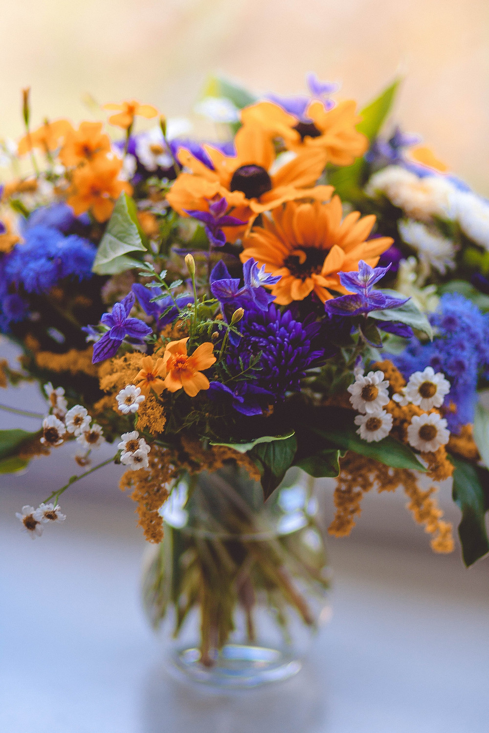 Wildflower centerpiece Sustainable wedding options for Southport weddings