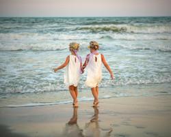 Frank Hart Photography Ocean Isle Beach wedding flower girls