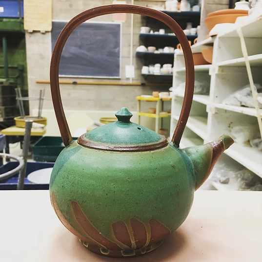 Weathered Bronze Teapot