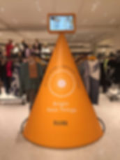 Retail Signage Selfridges Bright New Things Cone