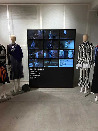 Video Wall Selfridges London Fashion Week Videowall