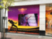 Retail Signage Queen Window Videowall