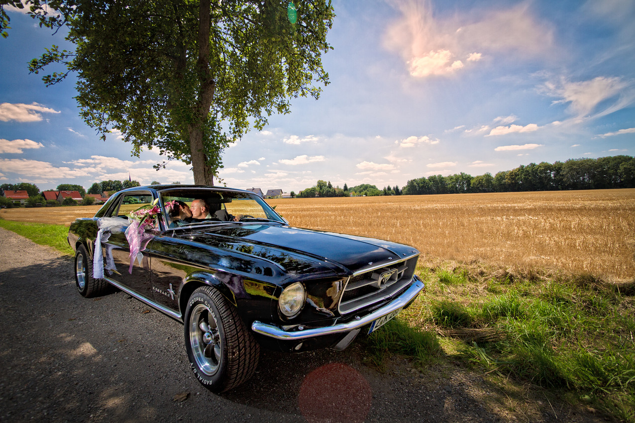 Hochzeitsfoto Ford Mustang
