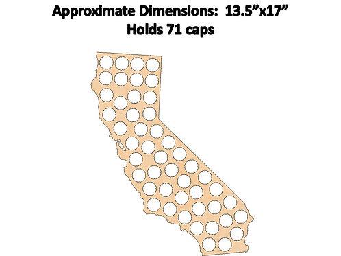California Bottle Cap Map