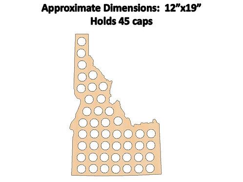 Idaho Bottle Cap Map