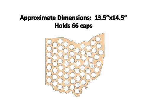 Ohio Bottle Cap Map