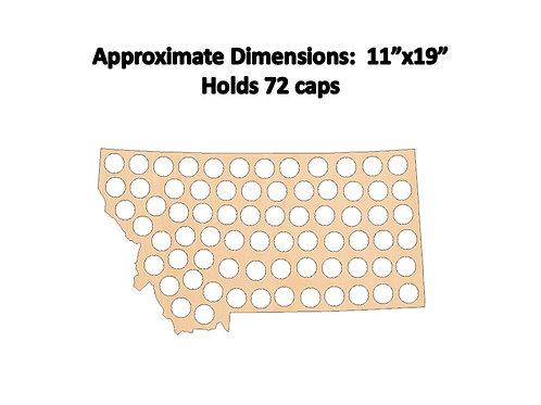 Montana Bottle Cap Map