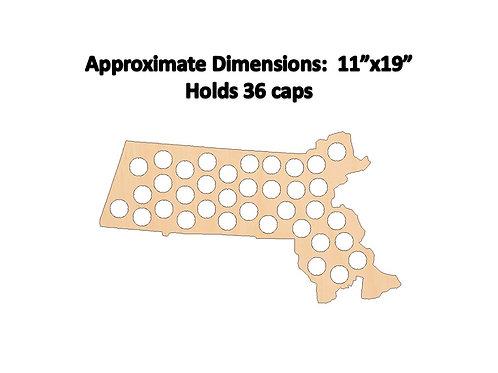 Massachusetts Bottle Cap Map