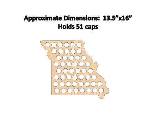Missouri Bottle Cap Map