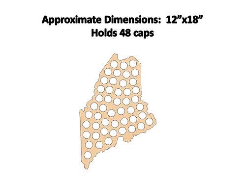 Maine Bottle Cap Map