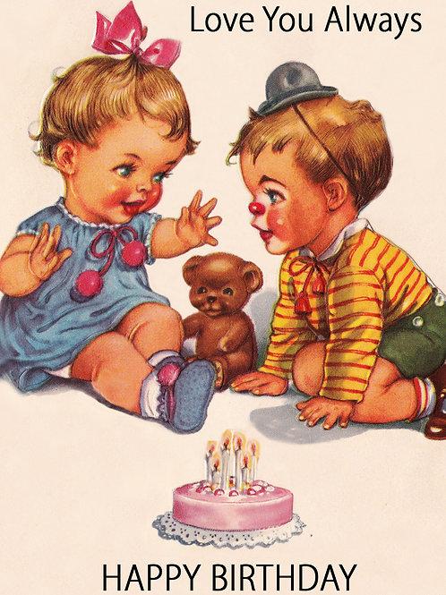Vintage Inspired Retro Nostalgic Greeting Card - Love You Always