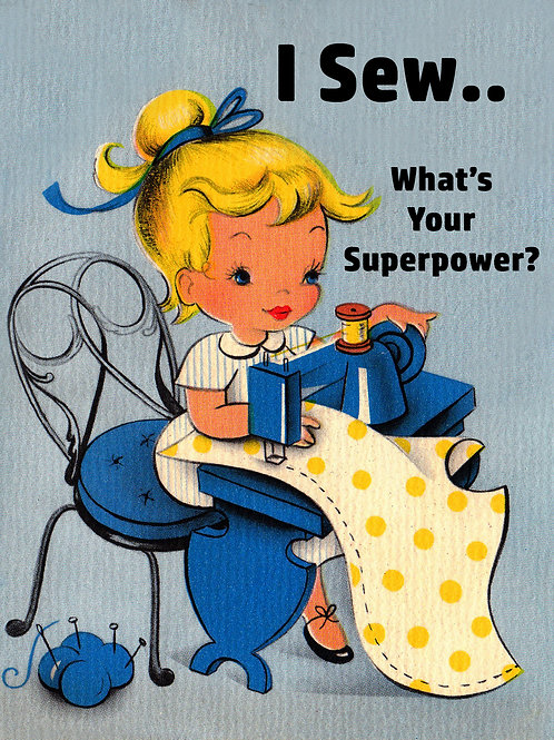 Vintage Inspired Retro Nostalgic Greeting Cards - I Sew Your Superpower