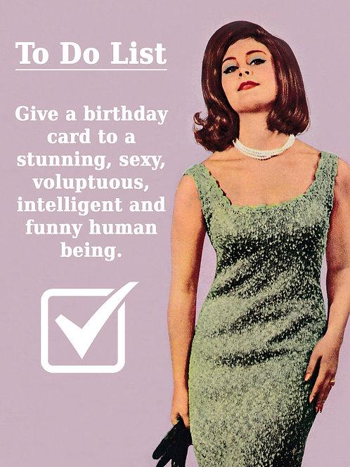 Vintage Inspired Retro Nostalgic Greeting Card - To Do List