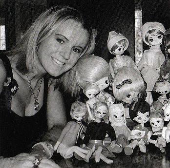 Katie Barker PoshTottyDesignz with vintage dolls