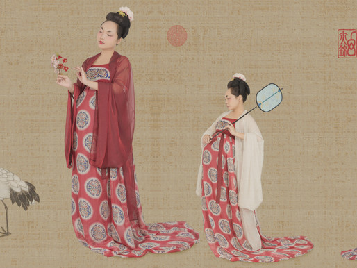 Beauties Wearing Flowers (簪花仕女图) Maternity Portrait