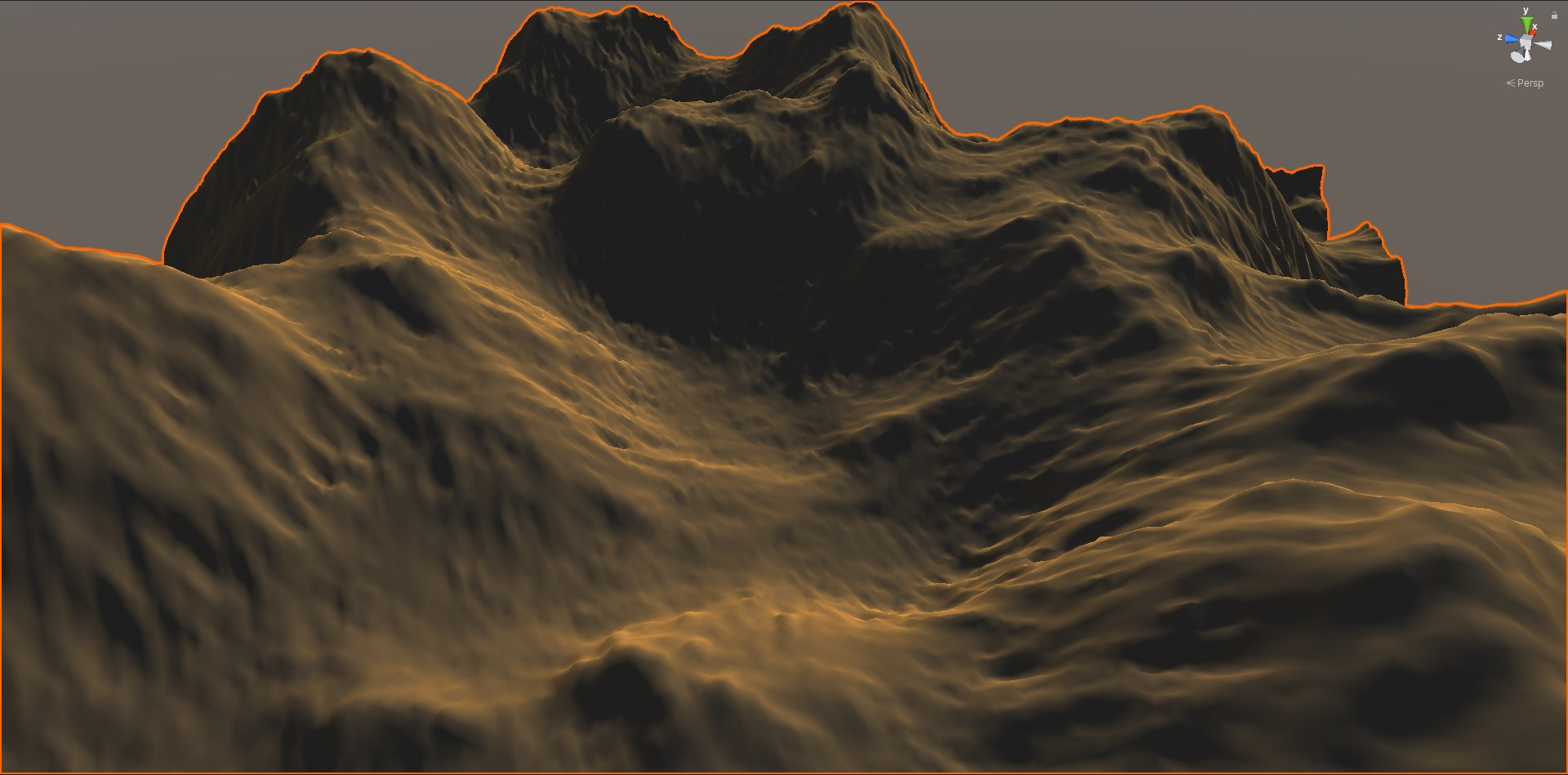HightMap using multiple frequency of Simplex Noise