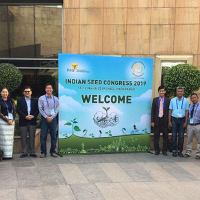 Business Learning visit to India and attending Indian Seed Congress 2019