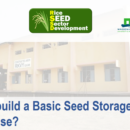 RSSD Releases the Guidelines for building Seed Warehouse